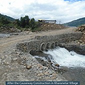 Before and After the Causeway Construction in Kharanetar